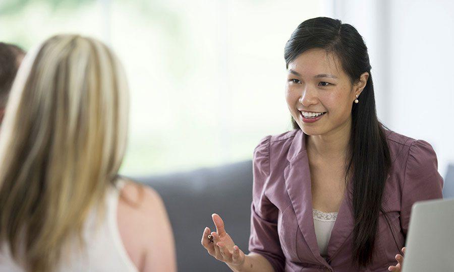Woman advises employees on ACA-compliant benefits